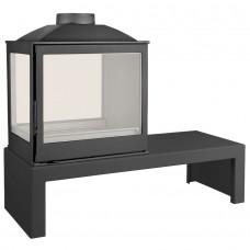 Печь LCI 5 GDFs Table, двусторонняя, стекло слева (Liseo Castiron)