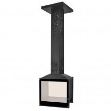 Камин LCI 5 GDF BG Sky, двусторонняя, черное стекло (Liseo Castiron)