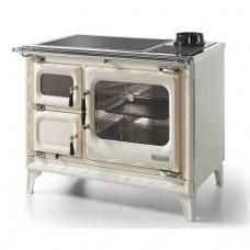 Печь-плита Deva II 100 H, гидроконтур, стеклокер., хром, беж. жемчужина (Hergom)