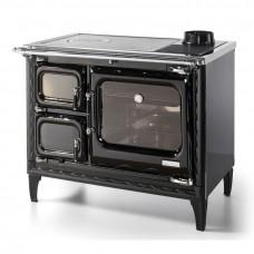 Печь-плита Deva II 100 H, гидроконтур, чугун, хром, черная (Hergom)
