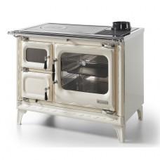 Печь-плита Deva II 100 H, гидроконтур, чугун, хром, бежевая жемчужина (Hergom)