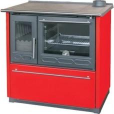 Плита PLAMEN 850 GLAS красная, труба справа (Plamen)