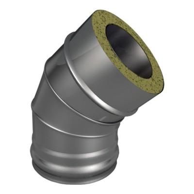 Отвод ОТ-Р 45* 304, 0,5/304, 0,5 d 120/220 с хомутом на замке